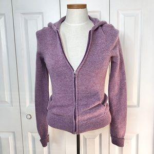 Old Navy lilac 💯% lambswool zip up hoodie